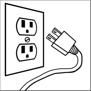 304x304 Clip Art Electricity Outlet Amp Plug Bampw I Abcteach