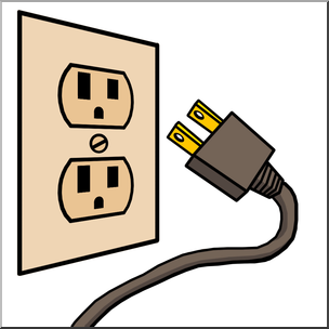 304x304 Clip Art Electricity Outlet Amp Plug Color I Abcteach