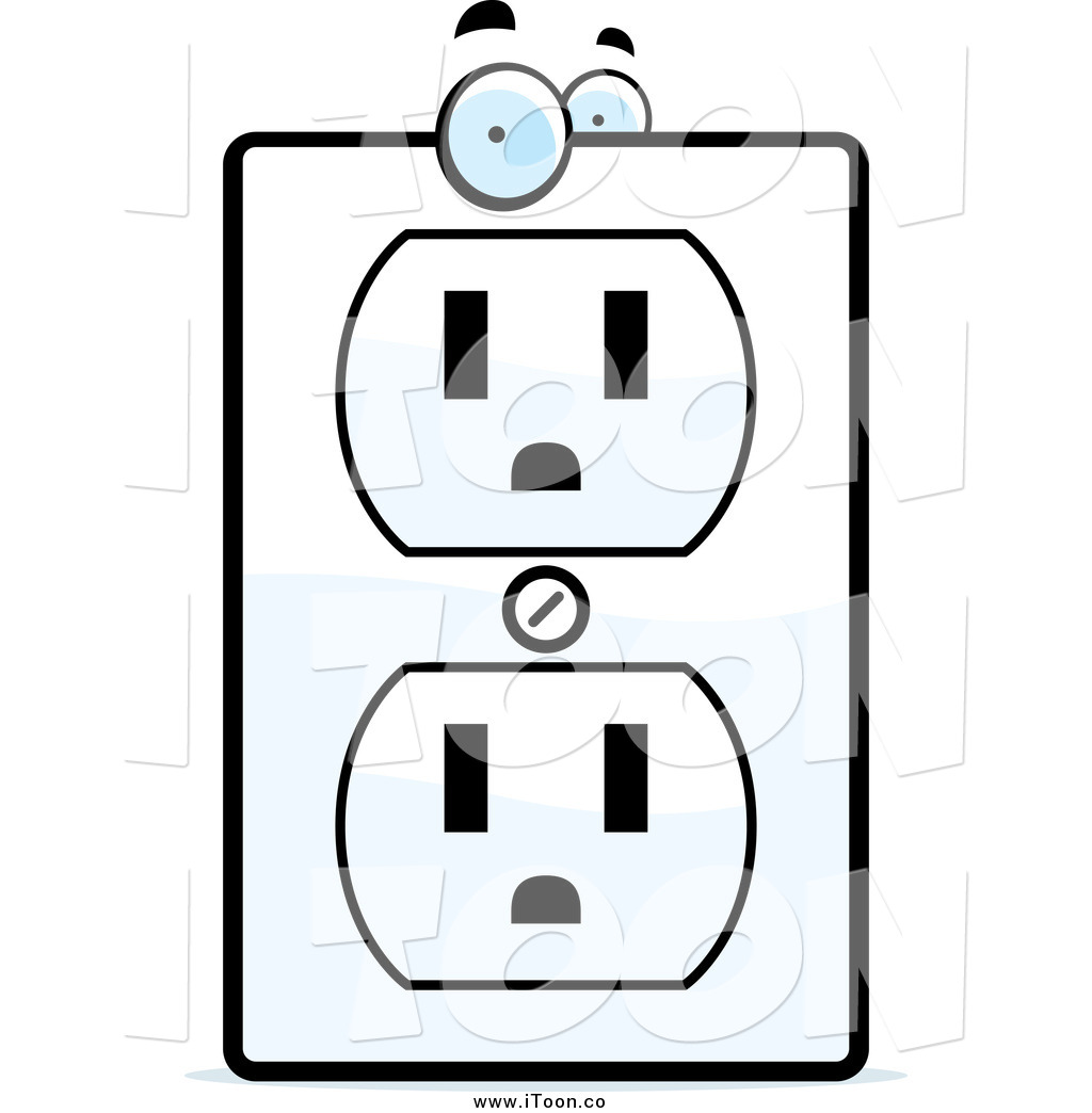 1024x1044 Royalty Free Cartoon Of An Electrical Outlet With Eyes By Cory