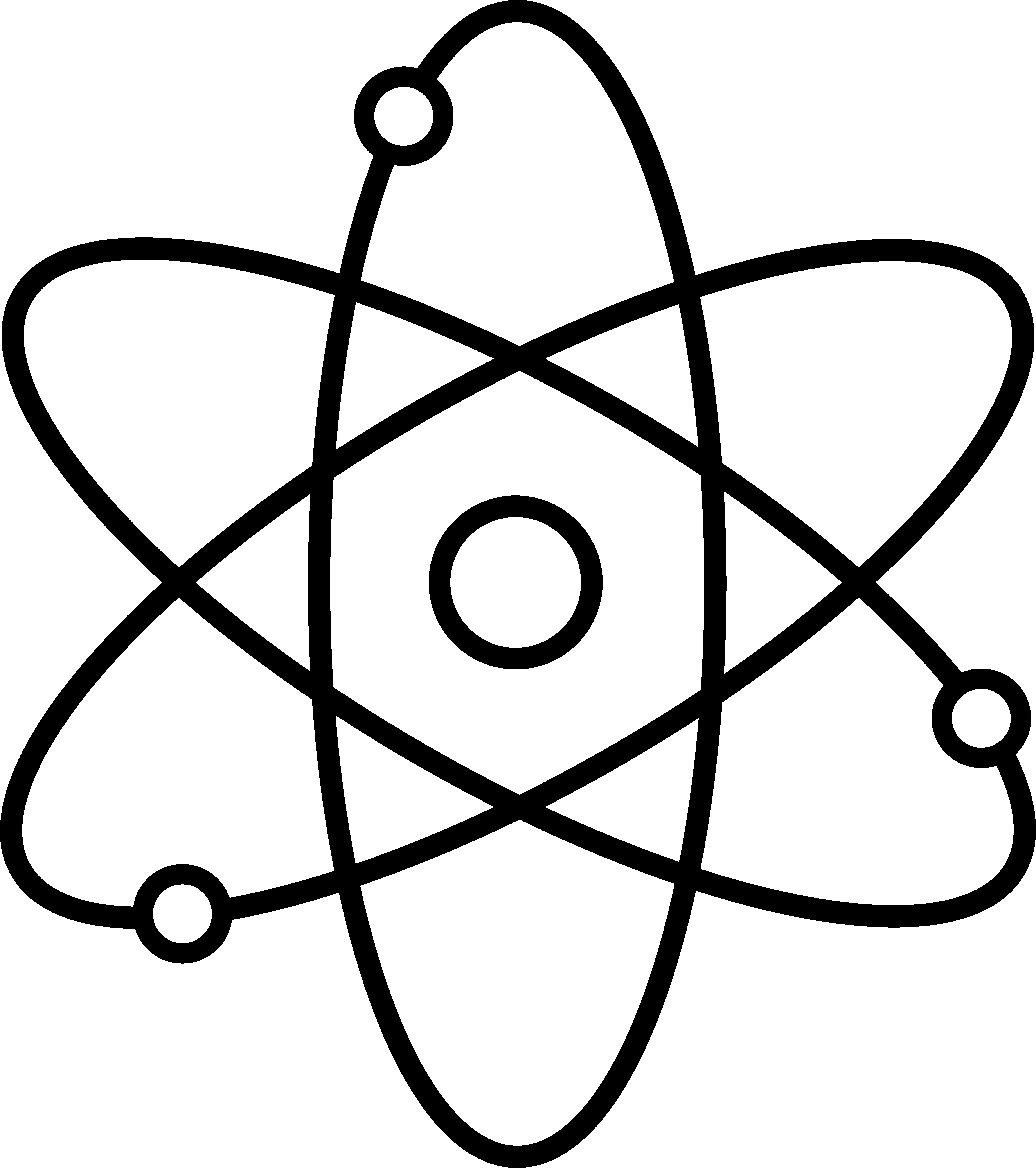 6792x7659 Atom Symbol Line Art
