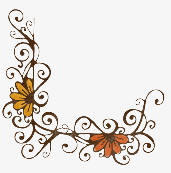 600x604 Elegant Flower Border, Flowers, Frame, Beautiful Border Png Image