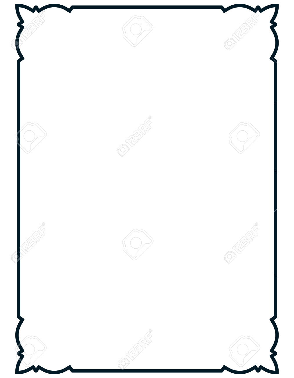 1013x1300 Elegant Page Borders Clipart