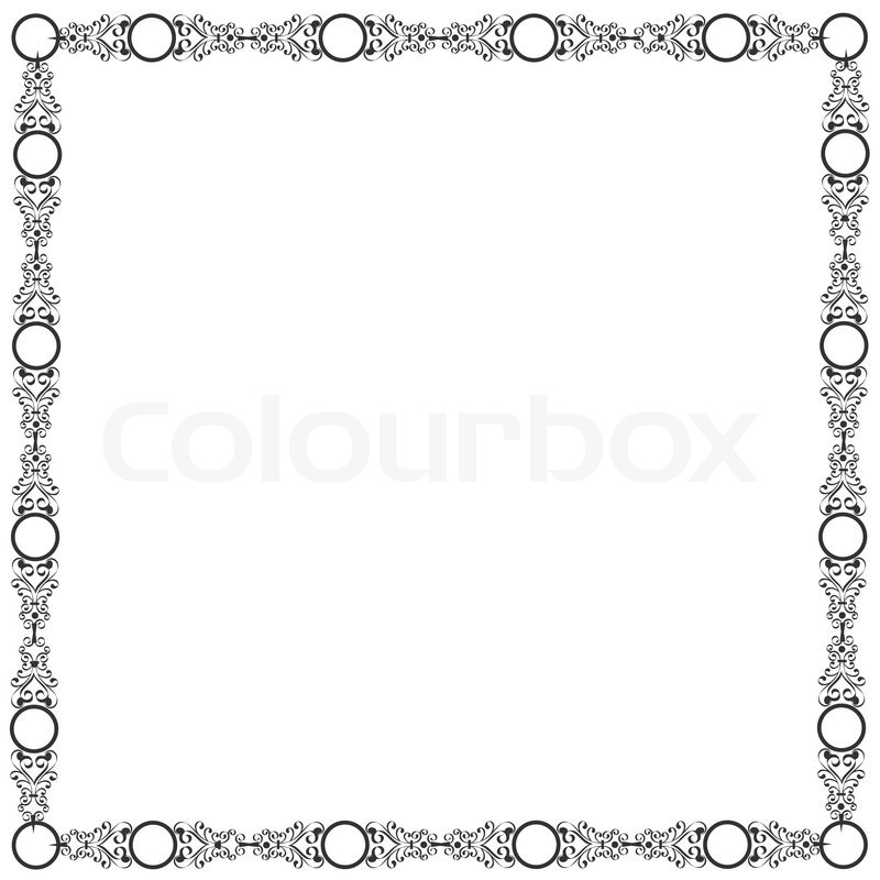 800x800 Decorative Elegant Frame Stock Vector Colourbox