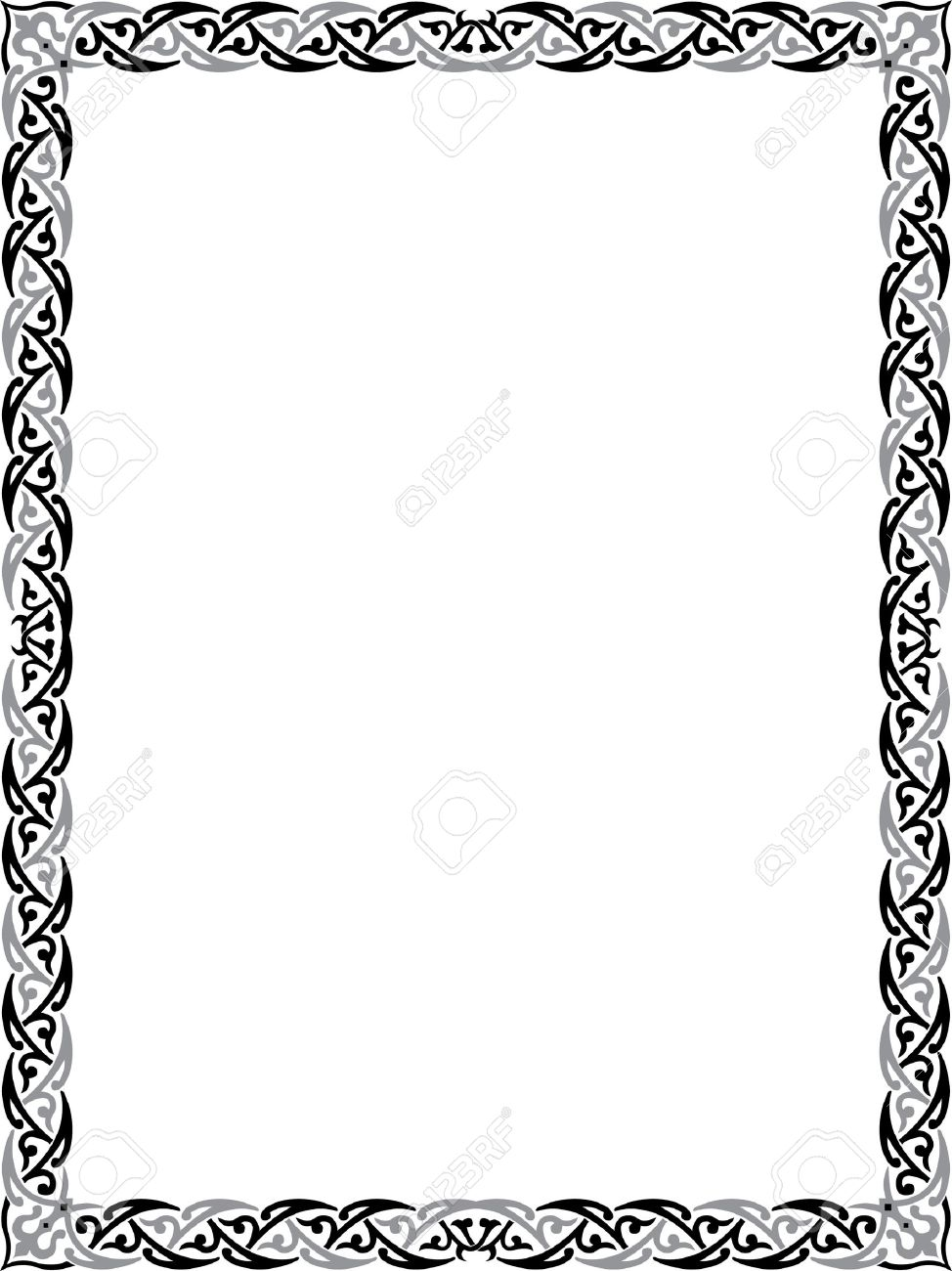 974x1300 Elegant Border Frame Royalty Free Cliparts, Vectors, And Stock
