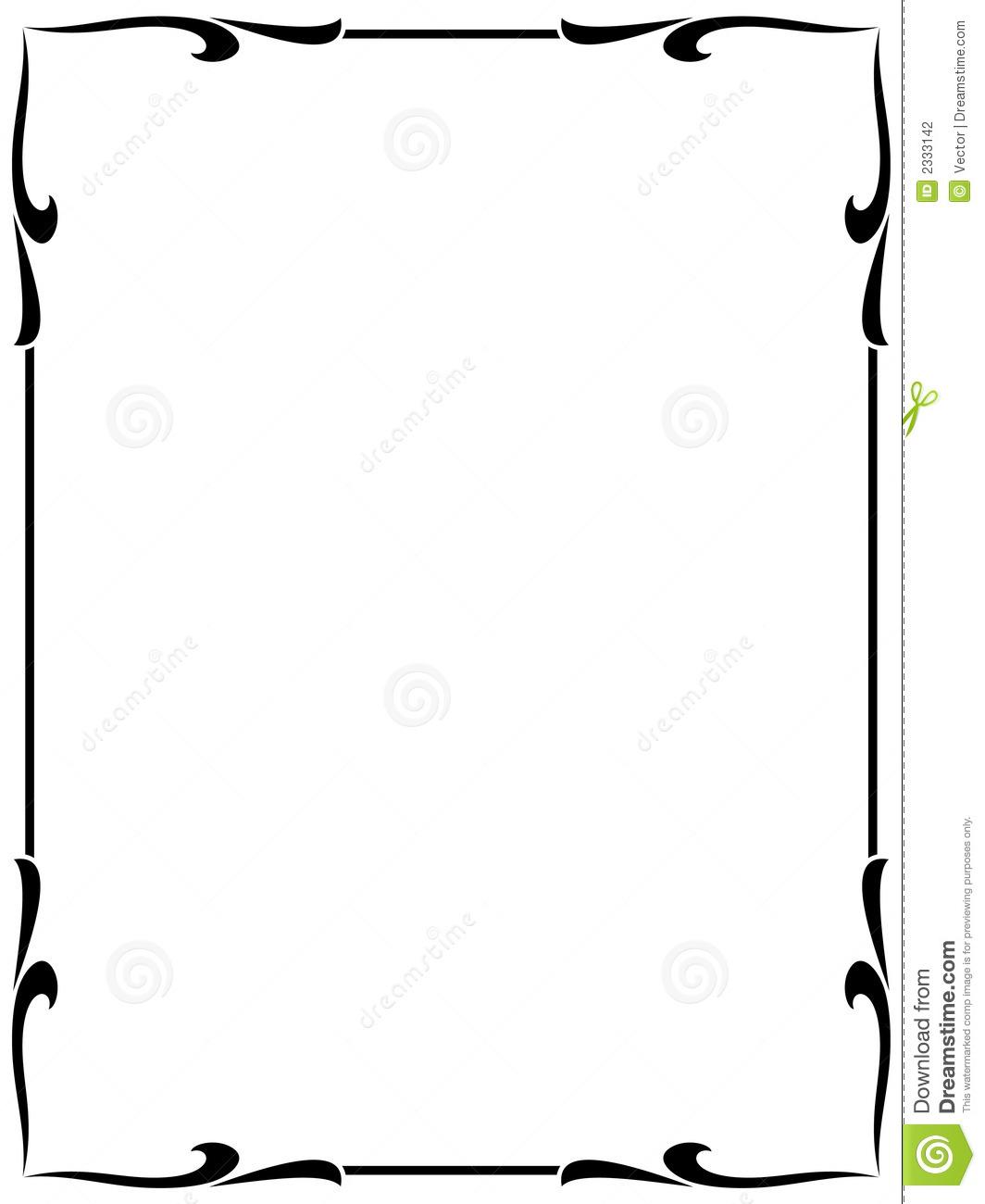 1064x1300 Elegant Frame Clipart
