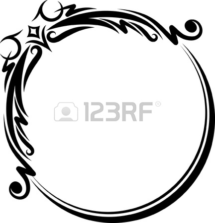 432x450 Elegant Oval Frame Royalty Free Cliparts, Vectors, And Stock
