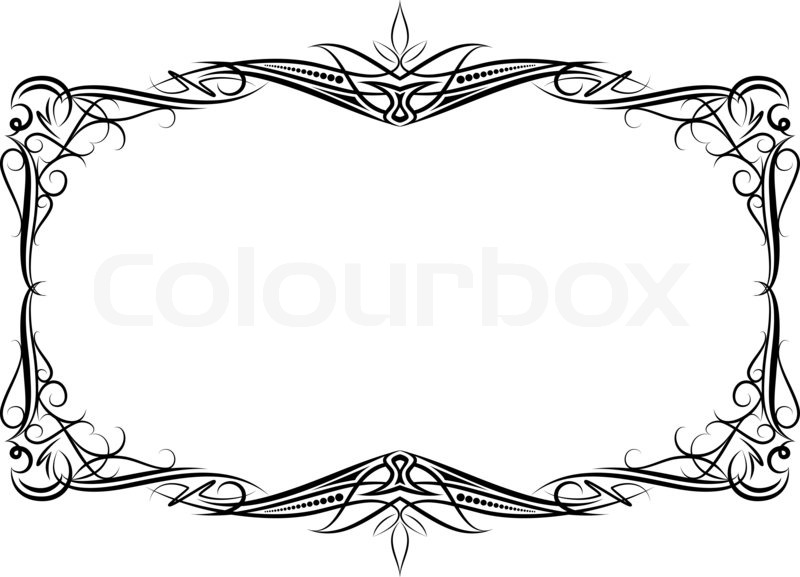 800x577 Elegant Decorative Frame Stock Photo Colourbox