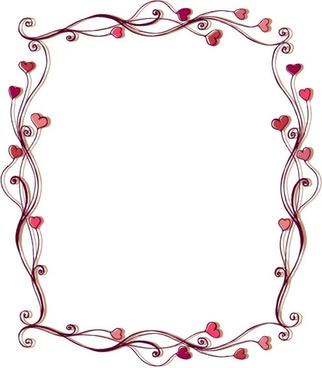 322x368 Elegant Heart Border Designs Free Vector Download (11,560 Free