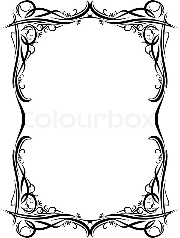 604x800 Gothic, Paper, Style Stock Vector Colourbox