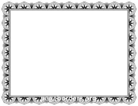 470x363 Elegant Border Clipart