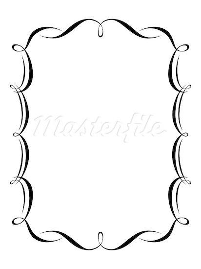 412x550 Elegant Frame Clip Art