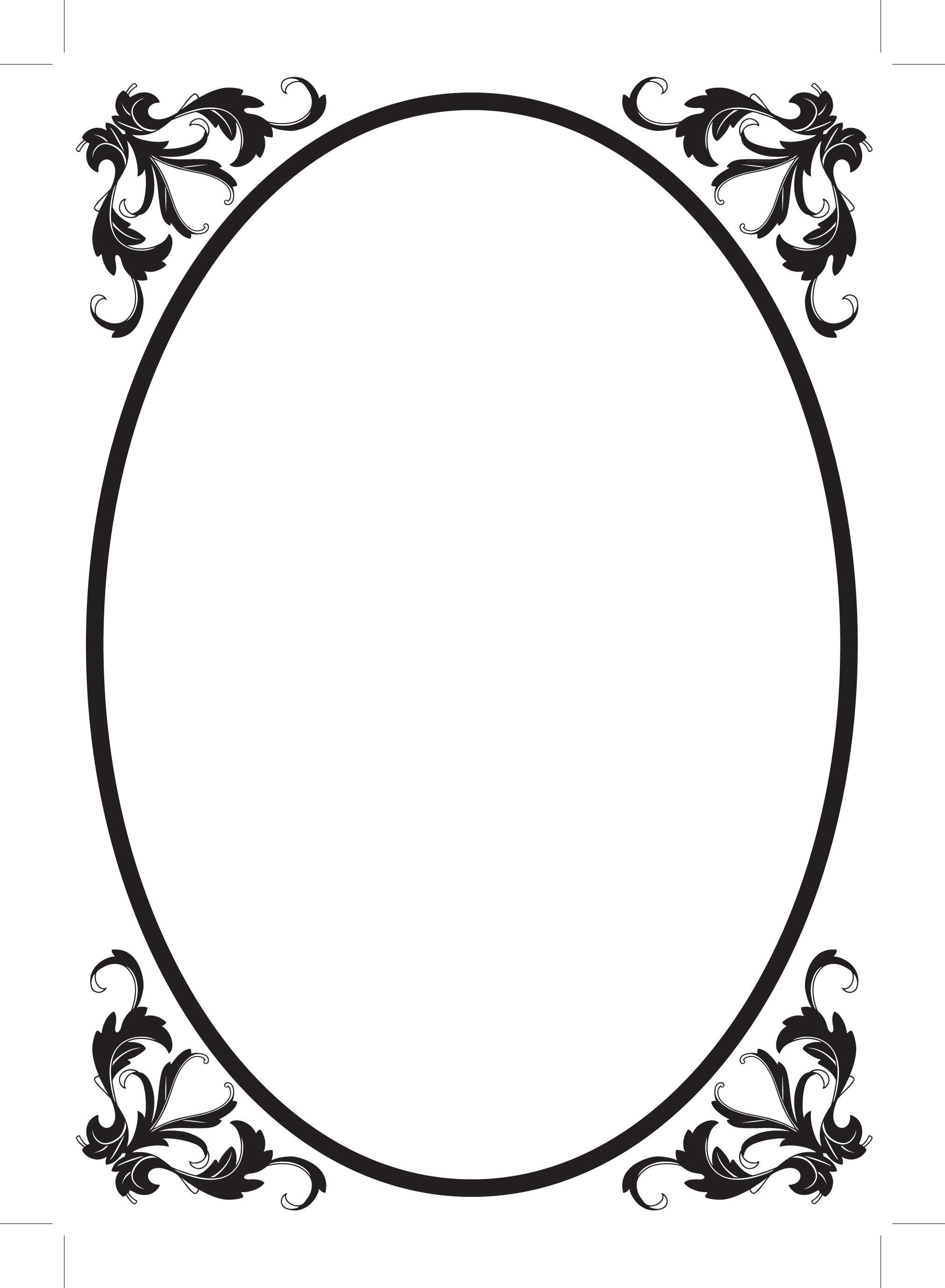 2023x2755 Oval Filigree Frame Clip Art