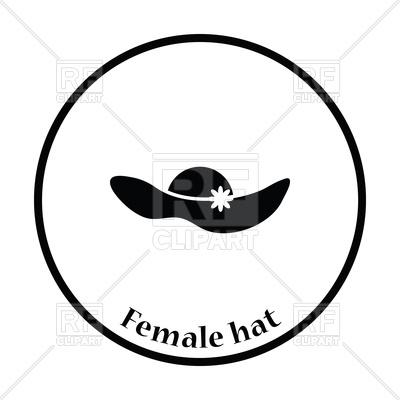 400x400 Elegant Woman Hat Icon Royalty Free Vector Clip Art Image