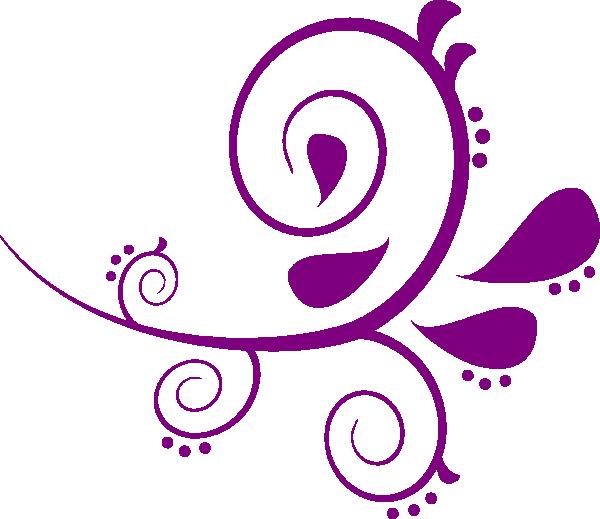 600x519 Purple Clipart Elegant