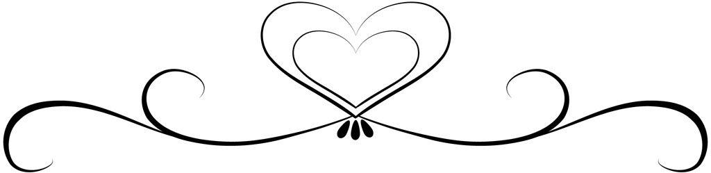 1024x249 Scroll Heart Clipart