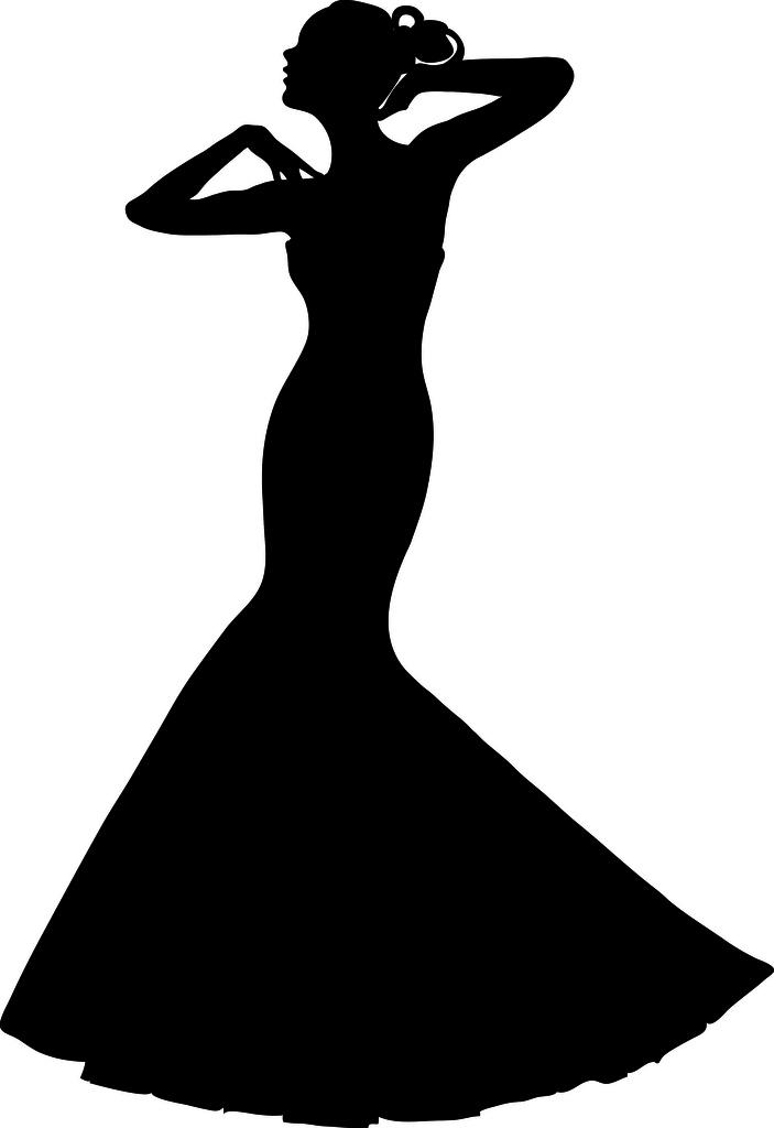 703x1024 Elegant Dresses Clipart