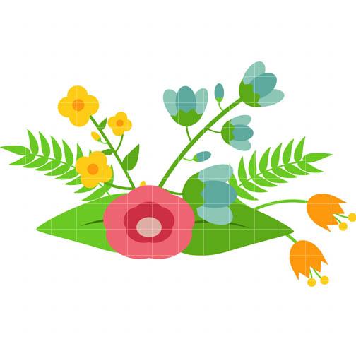 504x504 Elegant Flower Clipart
