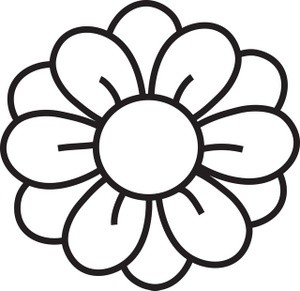 300x291 Flower Clipart Black And White Flowers