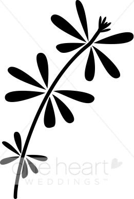 261x388 Retro Flower Clipart Elegant Wedding Flower Sketches