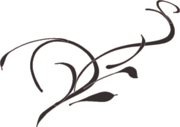 600x424 Vine Flower Clip Art