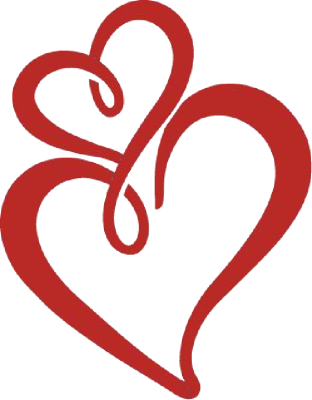 312x400 Double Heart Black And White Two Hearts Clipart