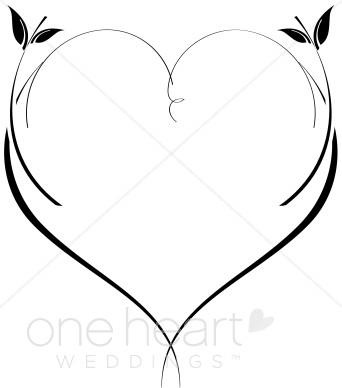 342x388 Elegant Double Hearts Clipart
