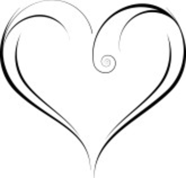 Line Art Heart Shape : Elegant heart clipart free download best