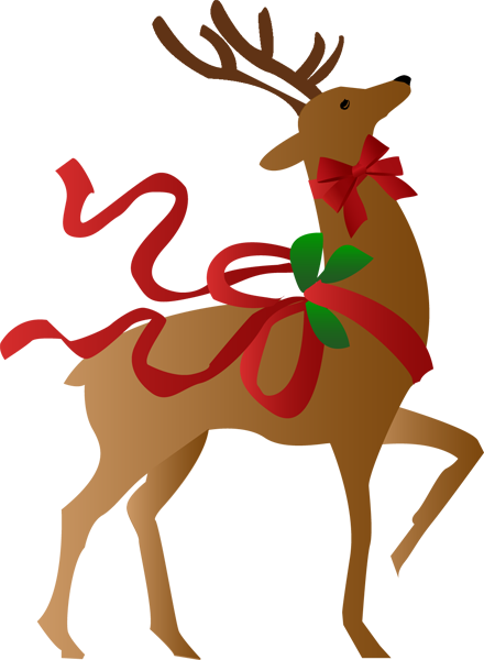 440x600 A Christmas Reindeer Clip Art, Merry And Holidays