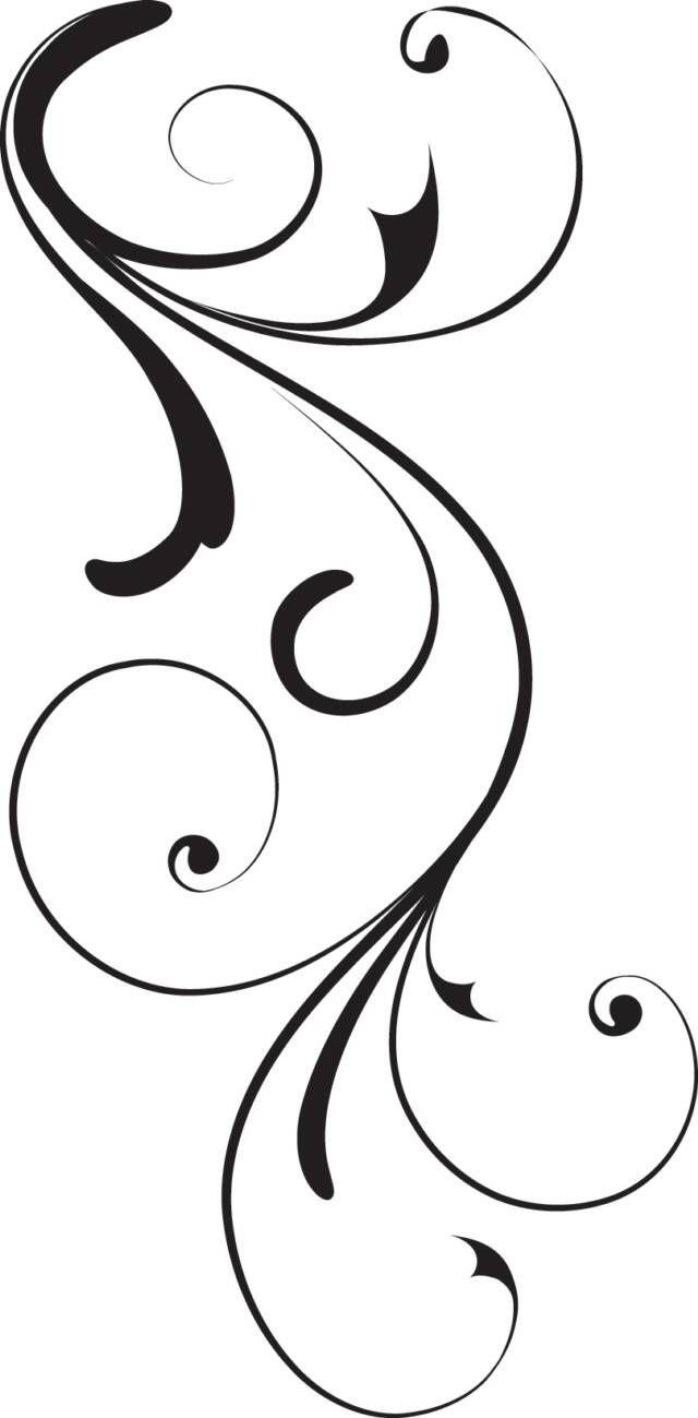640x1299 Elegant Swirl Designs Clip Art Right Floral Swirl Clip Art
