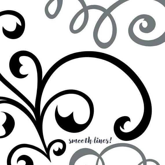 570x570 Fancy Wedding Flourish Swirl Clip Art Elegant Ornament
