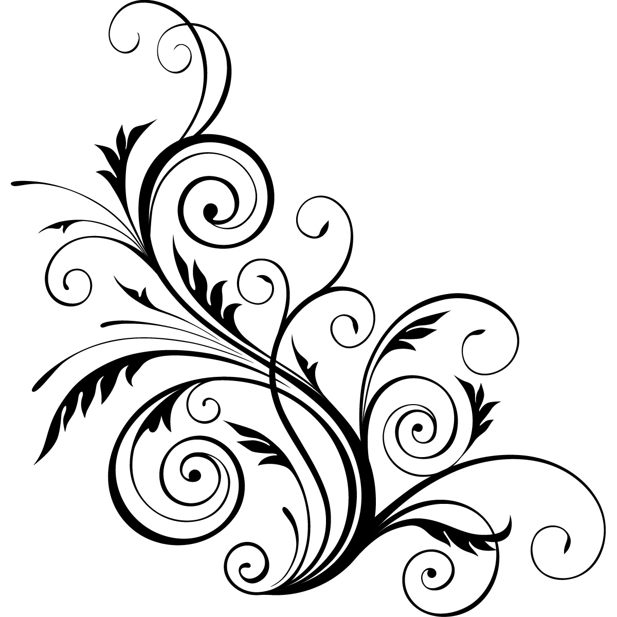 1200x1200 Swirl Clipart Floral