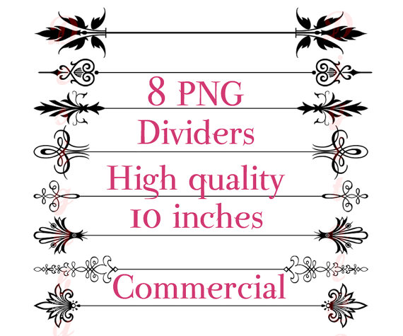 570x475 Wedding Page Divider Clipart