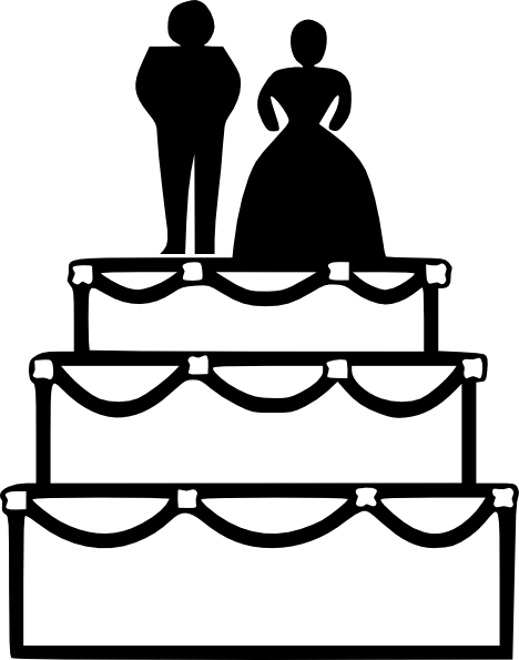 468x595 Clip Art Black And White Wedding Cake Clipart