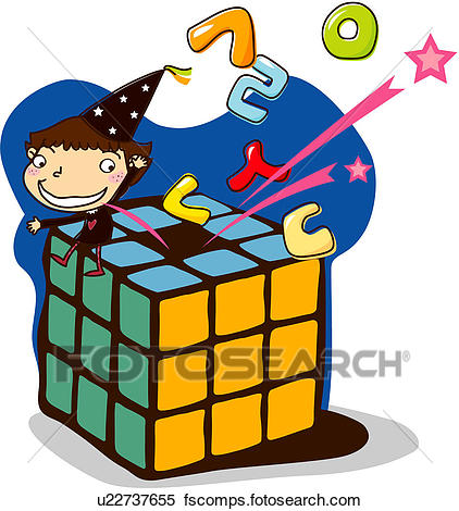422x470 Clipart Of National Language, One Man, Cube, Elementary School