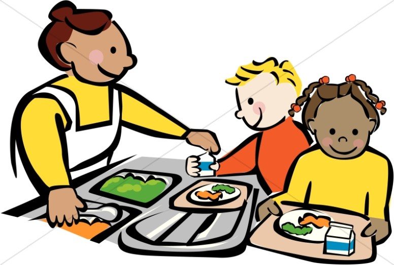 776x523 Elementary Kids Eating In School Cafeteria Clipart