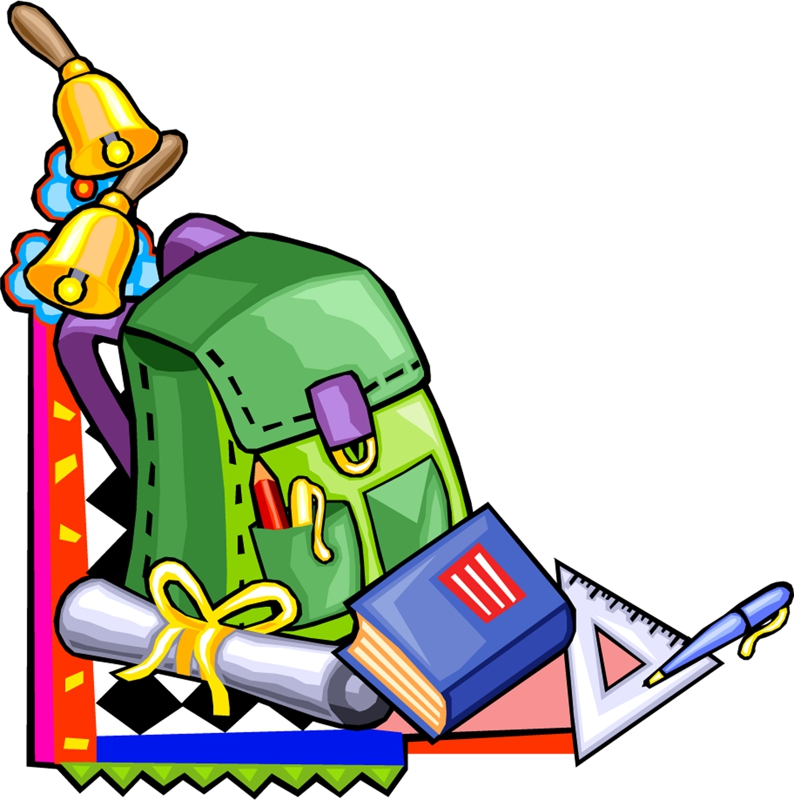 794x800 Grade School Supplies Cartoon Clipart