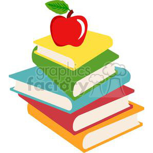300x300 Royalty Free 2726 Elementary School Design Books And Apple 380339