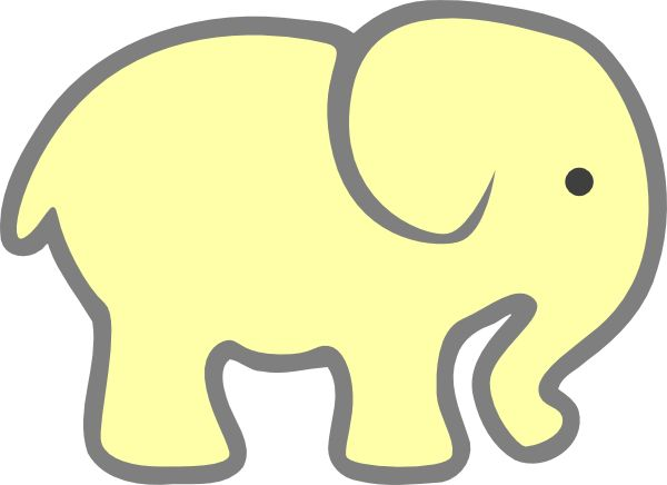 600x436 Best Elephant Outline Ideas Easy Elephant