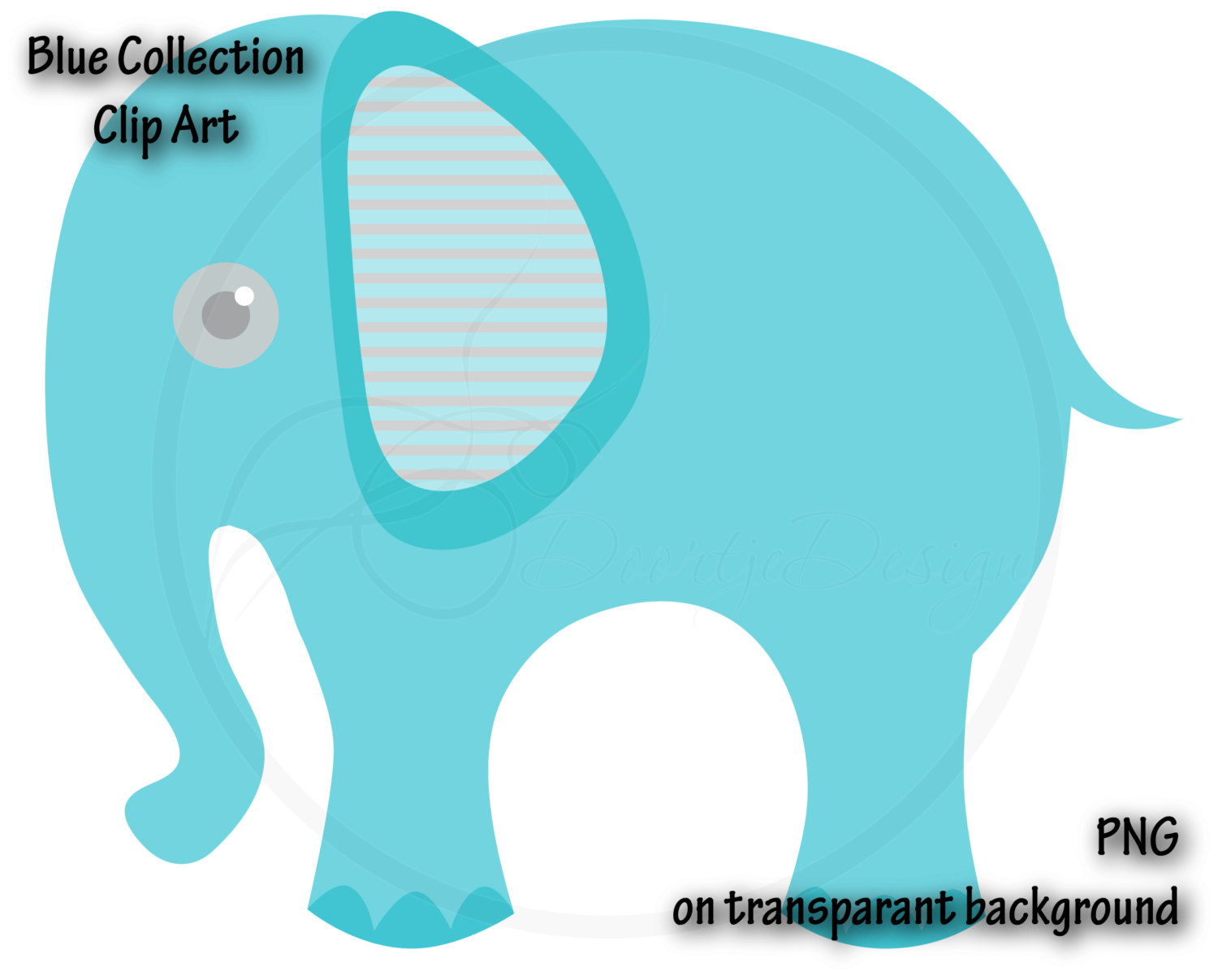 1500x1207 Digital Elephant Blue Clipart, Blue Elephant, Baby Shower