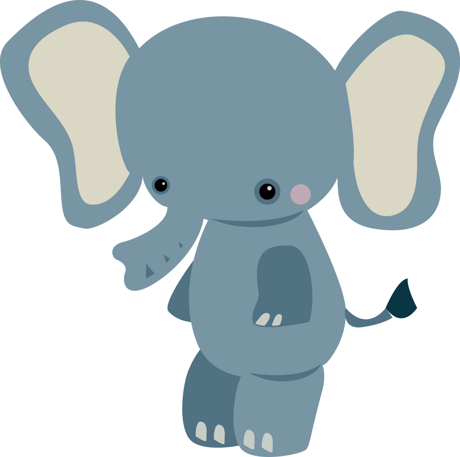 1600x1588 Elephant Clipart Baby Animal