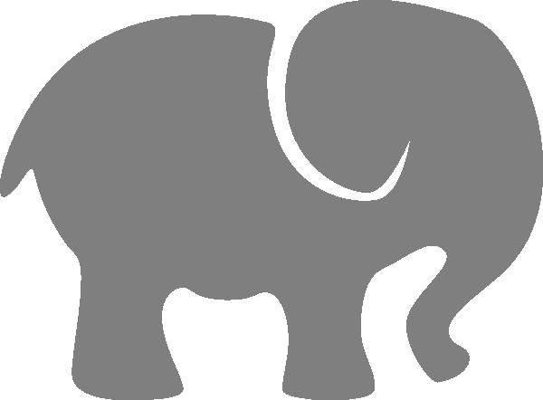 600x442 Grey Baby Elephant Clip Art