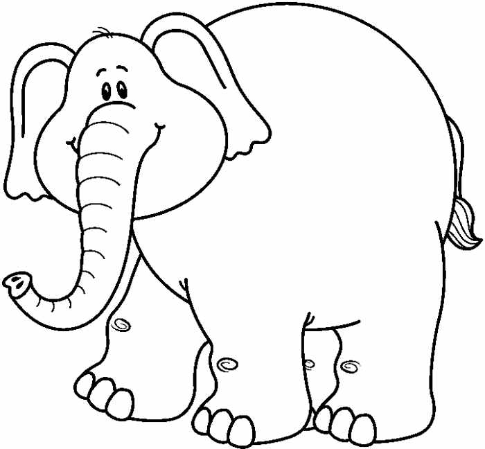 700x648 Elephant Black And White Clipart