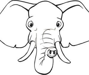 300x253 Face Clipart Elephant