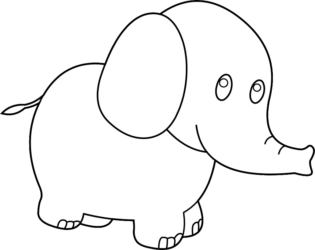 1024x811 Free Elephant Clipart Black And White Image