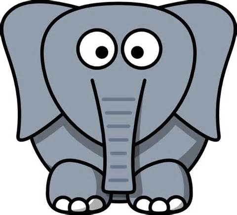 480x436 Elephant Clip Art Black And White Free Clipart 2