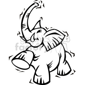 300x300 Royalty Free Republican Black And White Elephant Clip Art 385631
