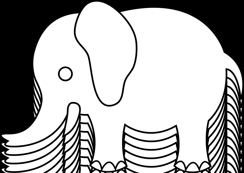 6135x4346 White Giraffe Silhouette Clip Art Elephant Clipart For Kids