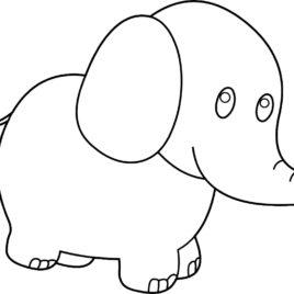 268x268 Best Photos Of Black And White Elephant Clip Art Elephant White