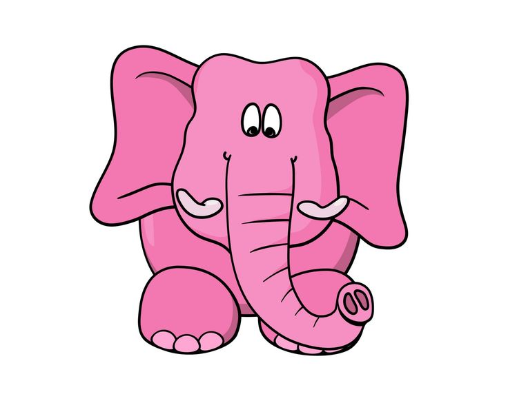 Elephant Cartoon Drawing