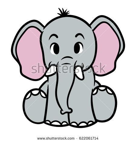450x470 Drawn Elephant Cartoon